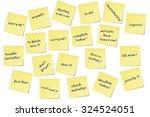 different urgent paper memo... | Shutterstock .eps vector #324524051