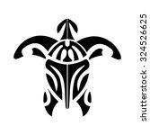 turtle   symbol of longevity ... | Shutterstock .eps vector #324526625