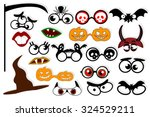 halloween. design elements for... | Shutterstock .eps vector #324529211