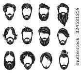 monochrome collection of twelve ... | Shutterstock .eps vector #324531359