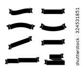 black ribbons set  graphic... | Shutterstock .eps vector #324531851