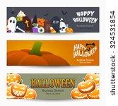 halloween banners  vector... | Shutterstock .eps vector #324531854