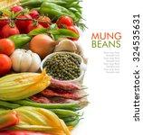 raw organic mung beans in a... | Shutterstock . vector #324535631