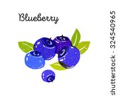textured blue blueberries with... | Shutterstock . vector #324540965
