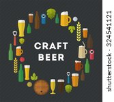 flat craft beer illustration.... | Shutterstock .eps vector #324541121