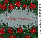 vector christmas card. hand... | Shutterstock .eps vector #324542411