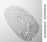 fingerprint human. personal... | Shutterstock .eps vector #324542414