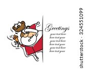 christmas set of santa clauses... | Shutterstock .eps vector #324551099