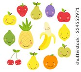 cute smiling characters of... | Shutterstock . vector #324552971