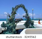 monument to scuba divers on... | Shutterstock . vector #3245562