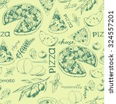 seamless vintage pattern with... | Shutterstock .eps vector #324557201