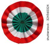 Small photo of The Italian roundel cockade flag of Italy