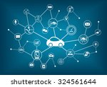 connected car vector... | Shutterstock .eps vector #324561644