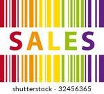colorful sales bar code vector   Shutterstock .eps vector #32456365