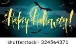 happy halloween banner with... | Shutterstock .eps vector #324564371