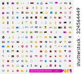 set of business stickers | Shutterstock .eps vector #324564449