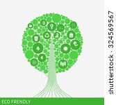 eco green tree. icon green... | Shutterstock .eps vector #324569567