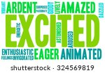 excited word cloud on a white... | Shutterstock .eps vector #324569819
