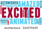 excited word cloud on a white... | Shutterstock .eps vector #324570539