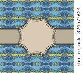 vintage vector ethnic frame | Shutterstock .eps vector #324572624