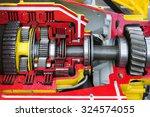 bulldozer drive gear mechanism... | Shutterstock . vector #324574055