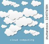 cloud computing | Shutterstock .eps vector #324576584
