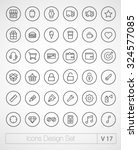 vector thin icons design set....