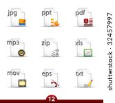 icon series   files and... | Shutterstock .eps vector #32457997