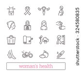 woman's health thin line icons. ... | Shutterstock .eps vector #324580835