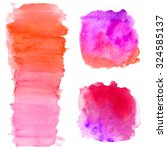 hand drawn watercolor washes.... | Shutterstock . vector #324585137