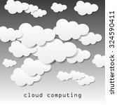 cloud computing | Shutterstock .eps vector #324590411