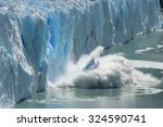 Small photo of Climate Change - Antarctic Melting Glacier in a Global Warming Environment