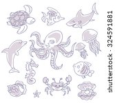 set of vector elements on the... | Shutterstock .eps vector #324591881