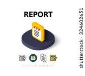 report icon  vector symbol in...