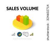 sales volume icon  vector...