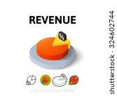 revenue icon  vector symbol in...