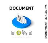 document icon  vector symbol in ...