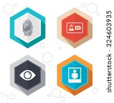 hexagon buttons. identity id... | Shutterstock .eps vector #324603935