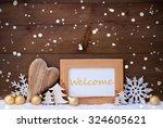 golden christmas decoration on...   Shutterstock . vector #324605621