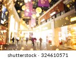 shopping mall blur background... | Shutterstock . vector #324610571