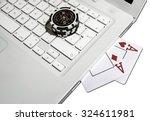 on line poker play  chips ... | Shutterstock . vector #324611981
