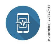 mobile medical supervision icon.... | Shutterstock . vector #324617459