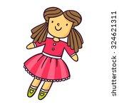 doll  bright vector children... | Shutterstock .eps vector #324621311