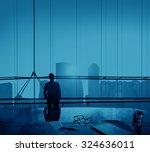 businessman thinking... | Shutterstock . vector #324636011