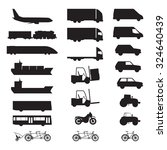 silhouettes of various vehicles.... | Shutterstock . vector #324640439