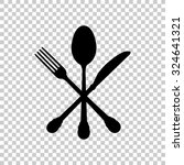 crossed knife fork and spoon... | Shutterstock .eps vector #324641321
