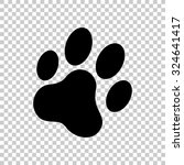 cat paw print vector icon  ... | Shutterstock .eps vector #324641417