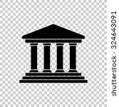 court building vector icon  ... | Shutterstock .eps vector #324643091
