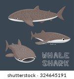 whale shark cartoon vector...   Shutterstock .eps vector #324645191