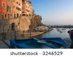 little harbor with boat at... | Shutterstock . vector #3246529